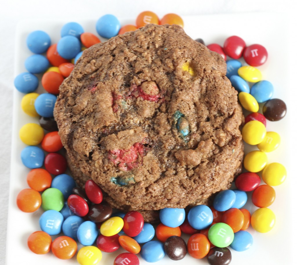 chocolate monster cookies, m&ms, chocolate, cookies, baking, dessert ...