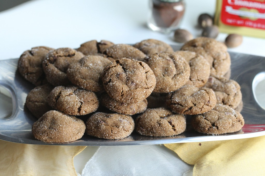 Chewy Ginger and Molasses Chocolate Cookies {Satisfy My Sweet Tooth}