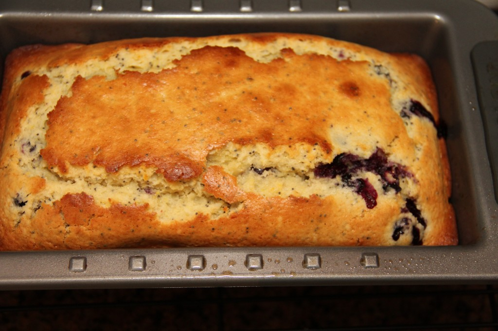Lemon Poppyseed Blueberry Bread with Blueberry Balsamic Sauce {Satisfy My Sweet Tooth}