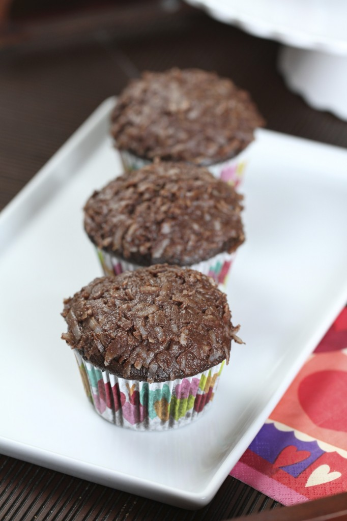 Chocolate Coconut Cupcakes {Satisfy My Sweet Tooth}