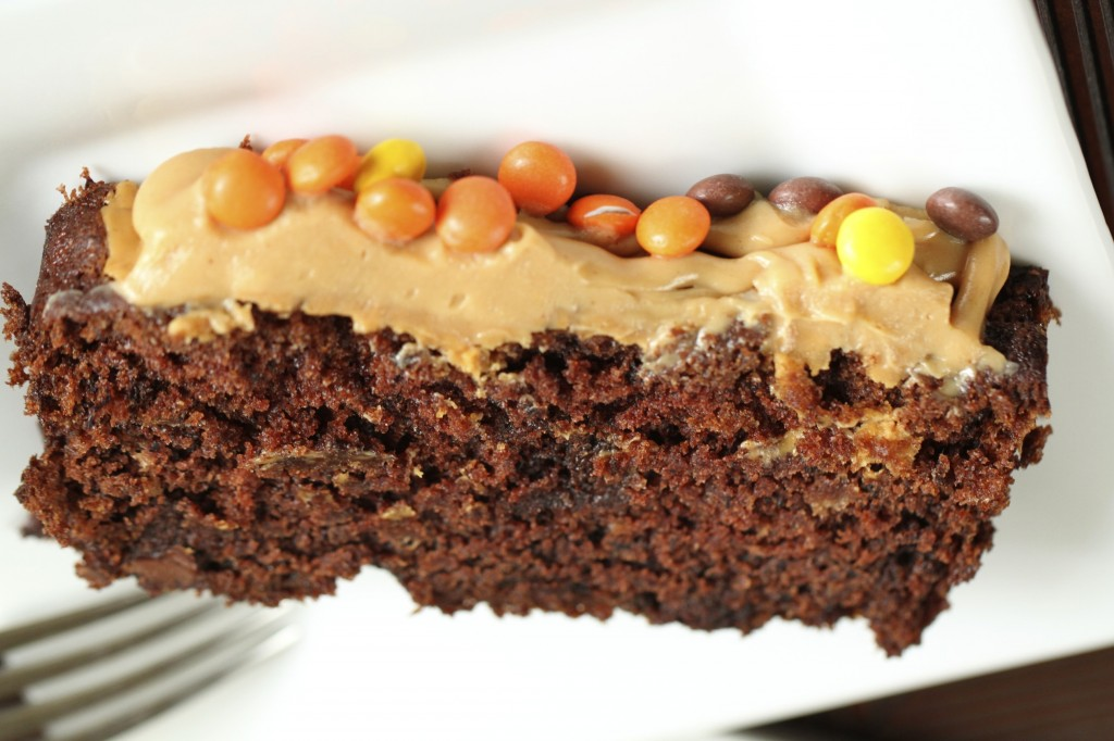 Double Chocolate Banana Bread with Peanut Butter Icing {Satisfy My Sweet Tooth}