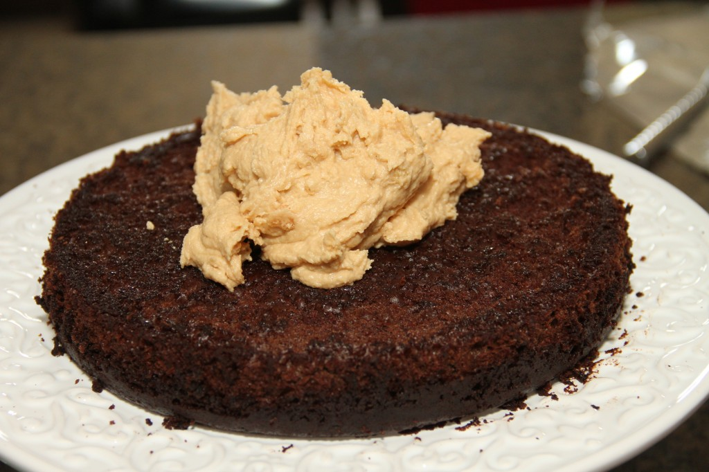 Chocolate Cake With Peanut Butter Filling Recipe — Dishmaps
