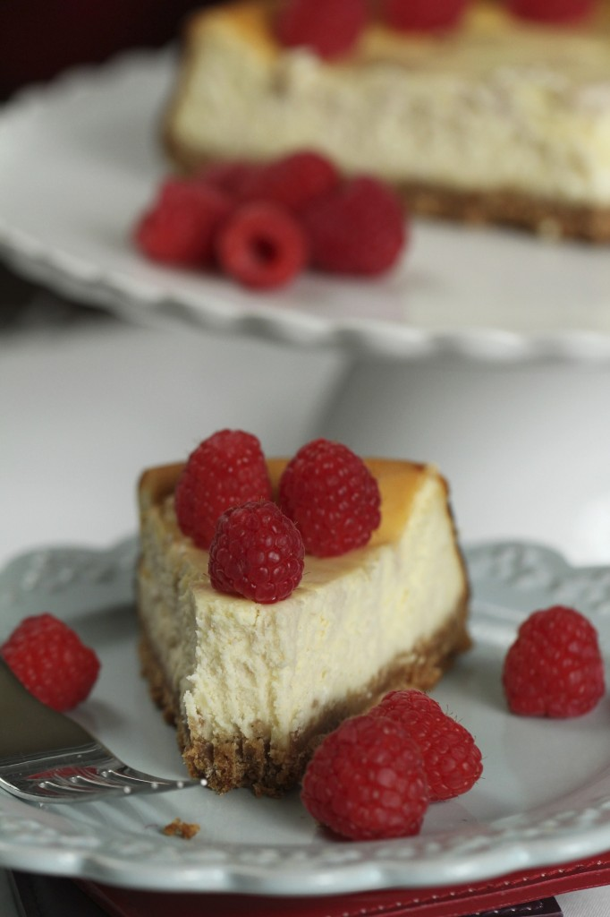 Lemon Raspberry Goat Cheesecake {Satisfy My Sweet Tooth}