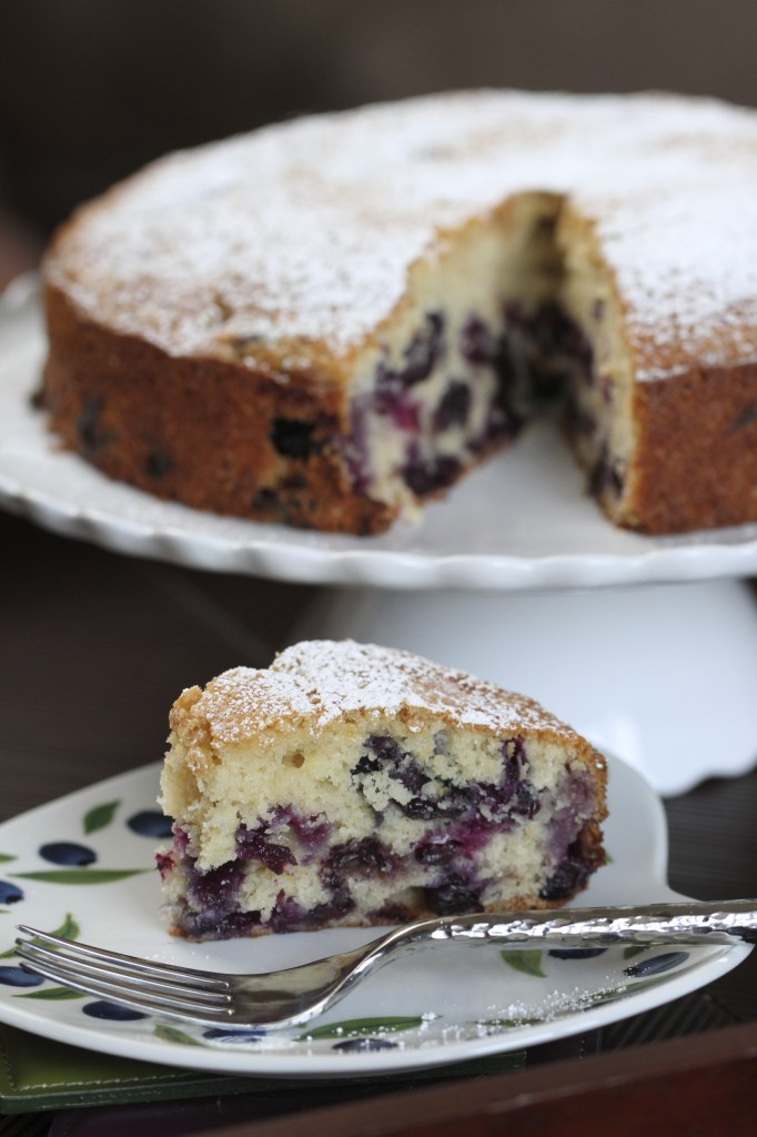 Blueberry Muffin Cake {satisfymysweettooth.com}