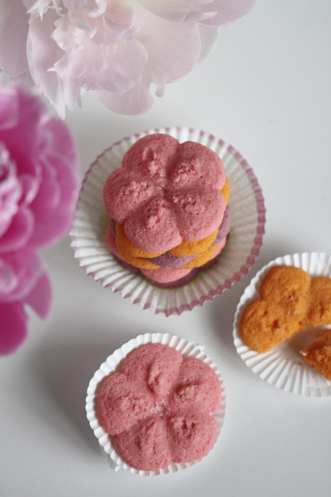 Flower Spritz Cookies {satisfymysweettooth.com}