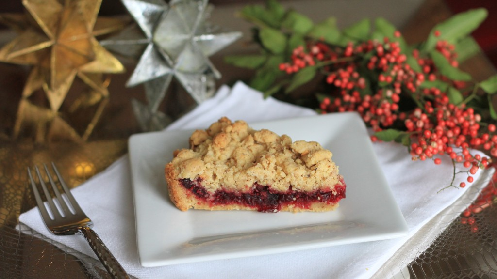 Cranberry Shortbread Tart {satisfymysweettooth.com}