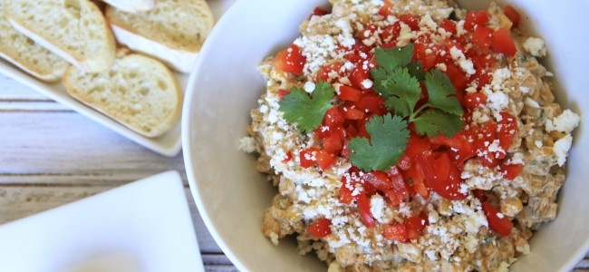 Mexican Street Corn Dip {satisfymysweettooth.com}