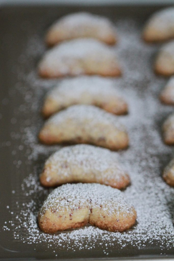 Almond Crescent Cookies for OXO's Cookies for Kids' Cancer